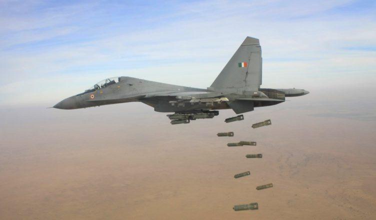 A Sukhoi depicting a bombing run; Courtesy - IAF