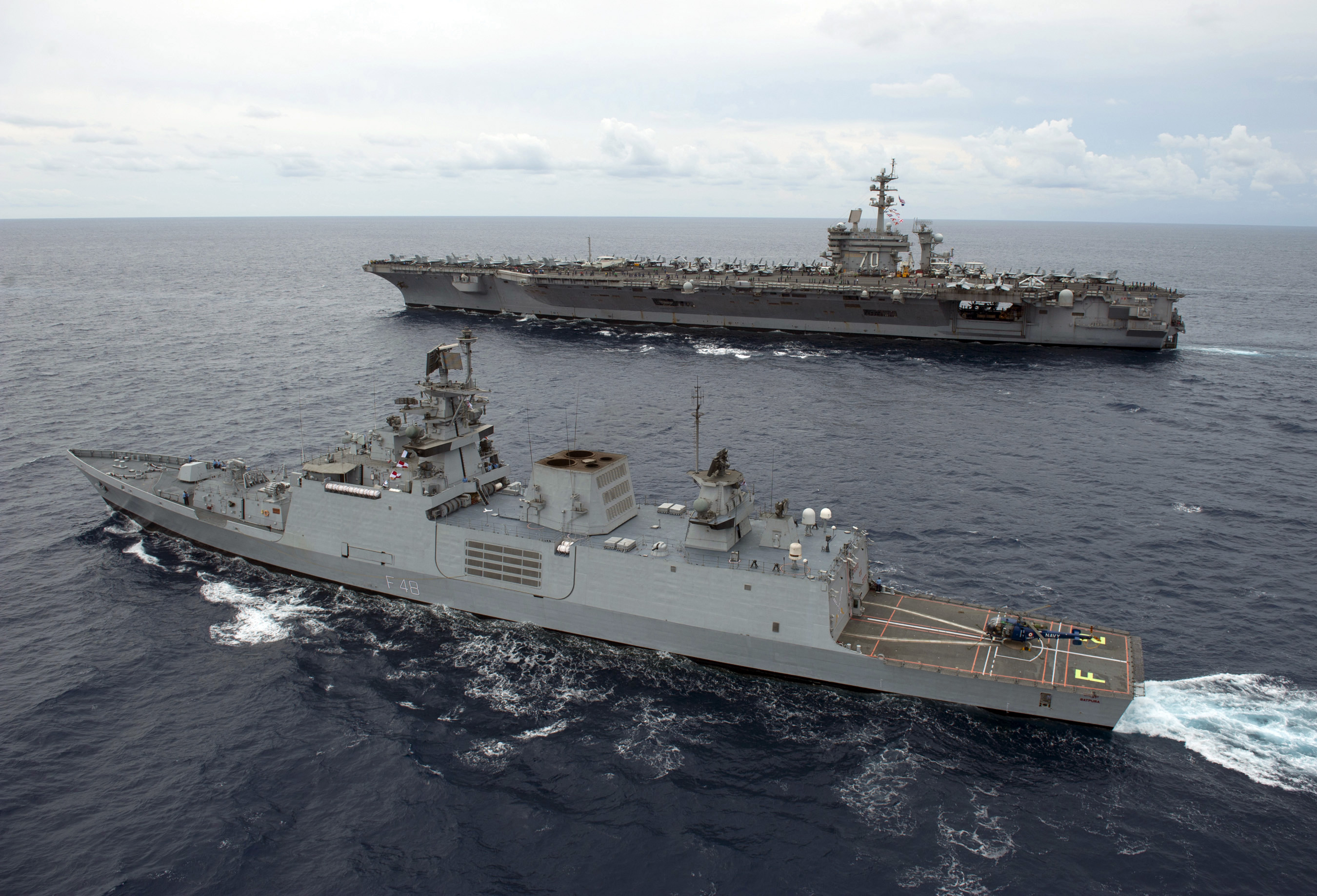 India and USA making rapid progress on throwing open naval and Air bases to each other.