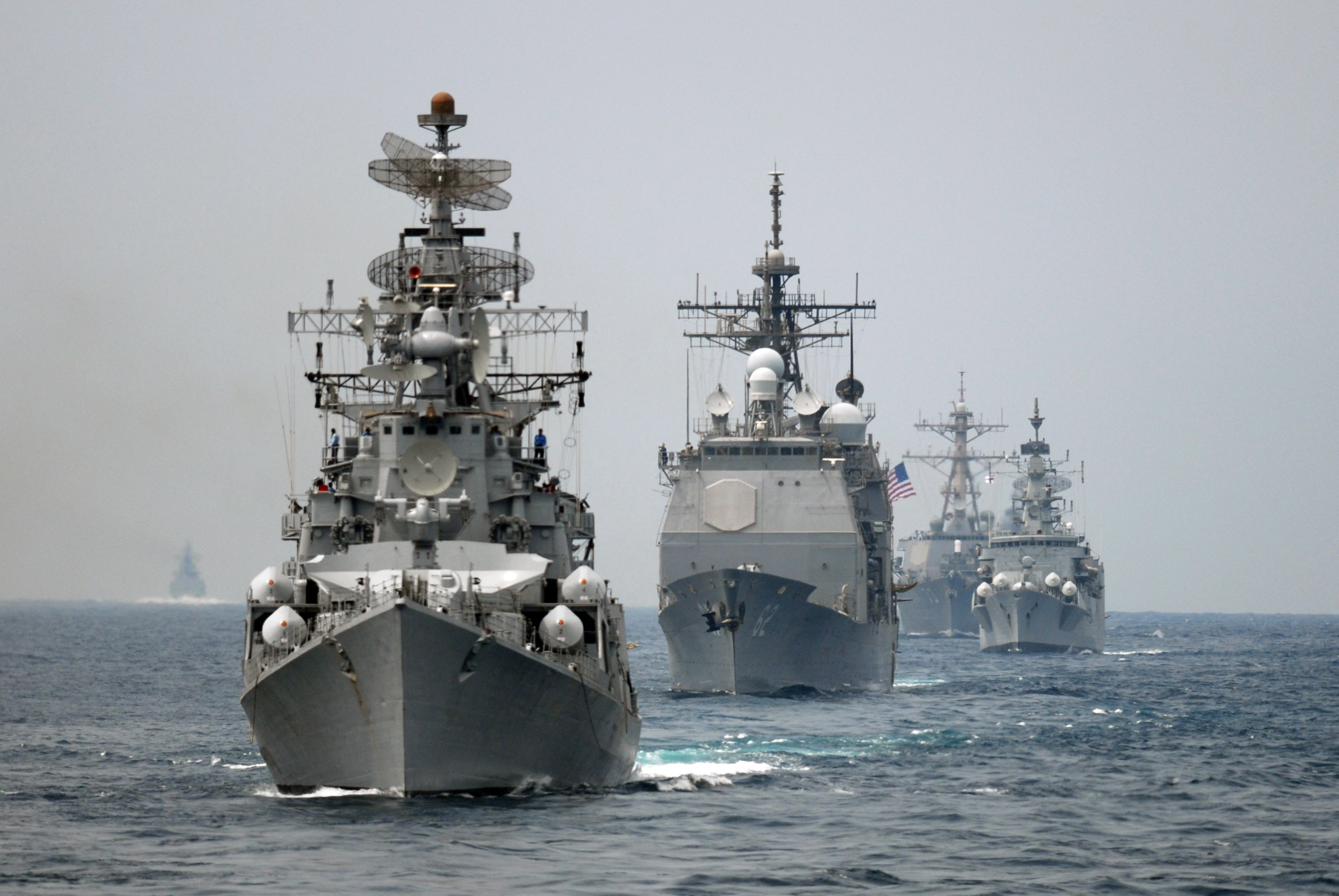 India deploys stealth warships to the South China Sea even as tensions flare in the fragile waters.