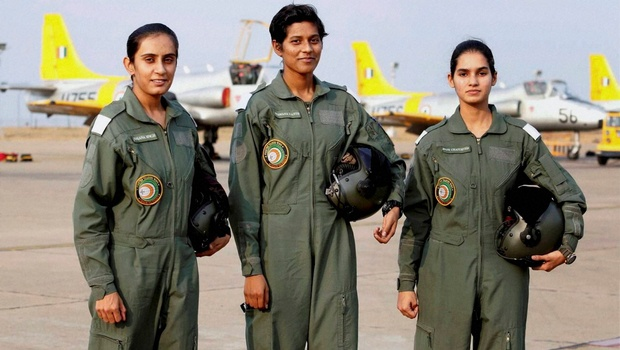 History scripted in golden words as Indian Air Force inducts first batch of women fighter pilots.