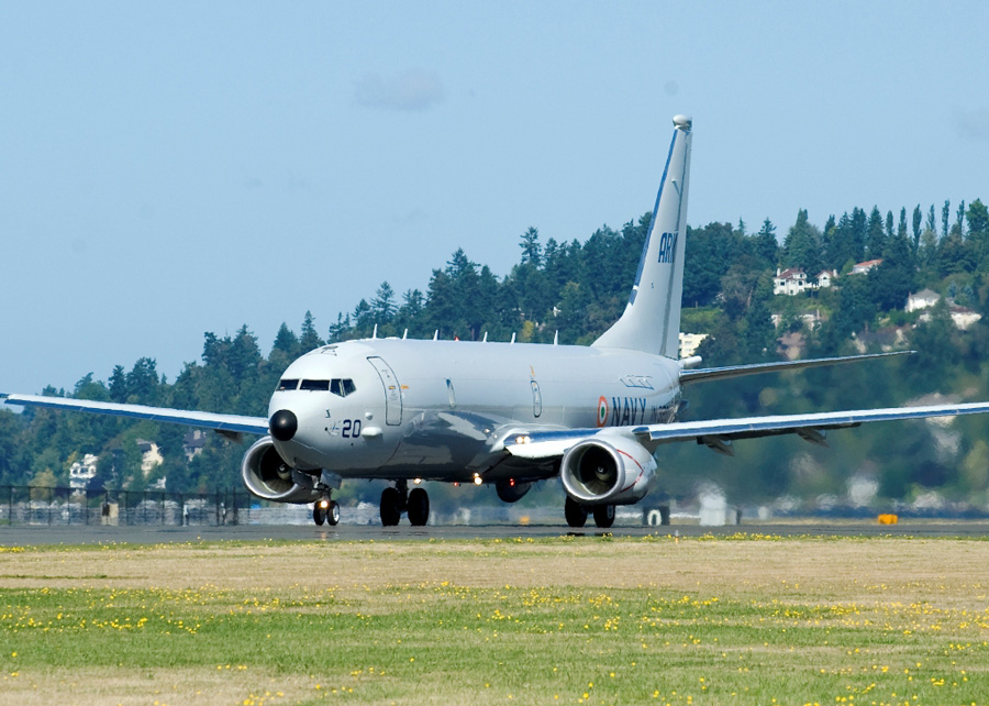 Indian Navy orders four submarine hunter killer aircraft from Boeing.