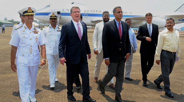 US Defence Secretary Ashton Carter arrives in India. Expected to Meet PM and Parrikar on Final Overseas Trip.