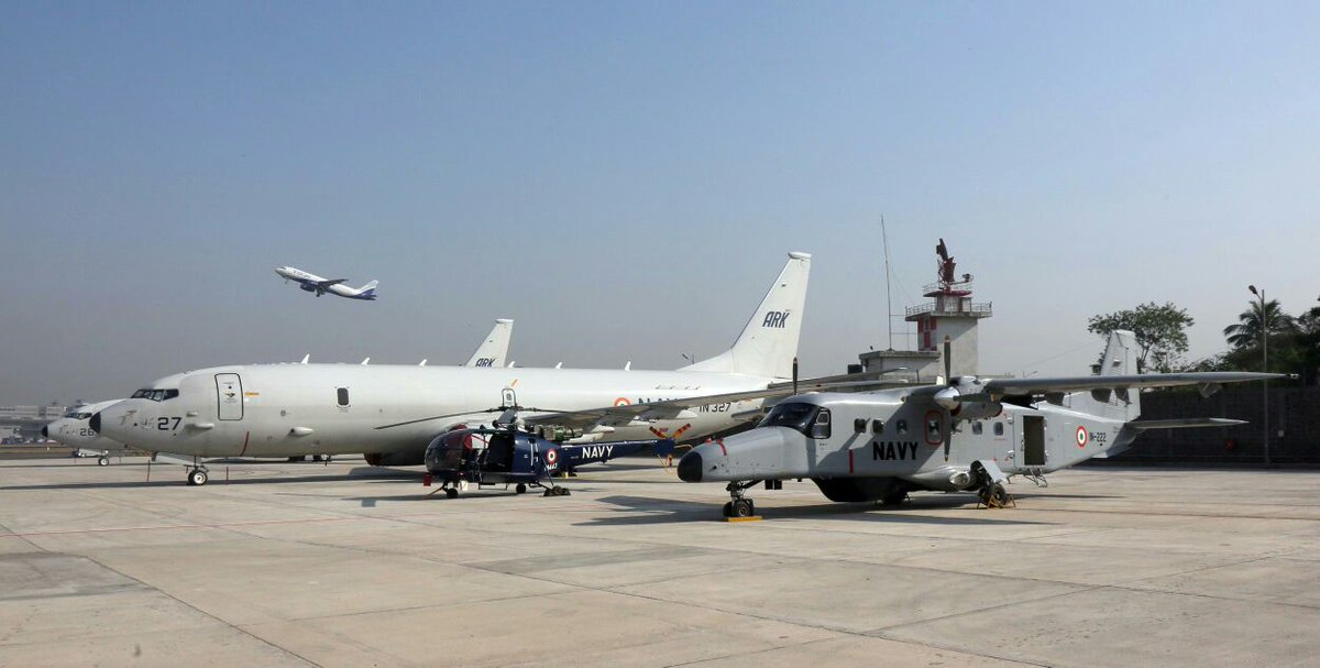 With a firm-eye on China, Indian Navy activates Naval Air Enclave at Mumbai.