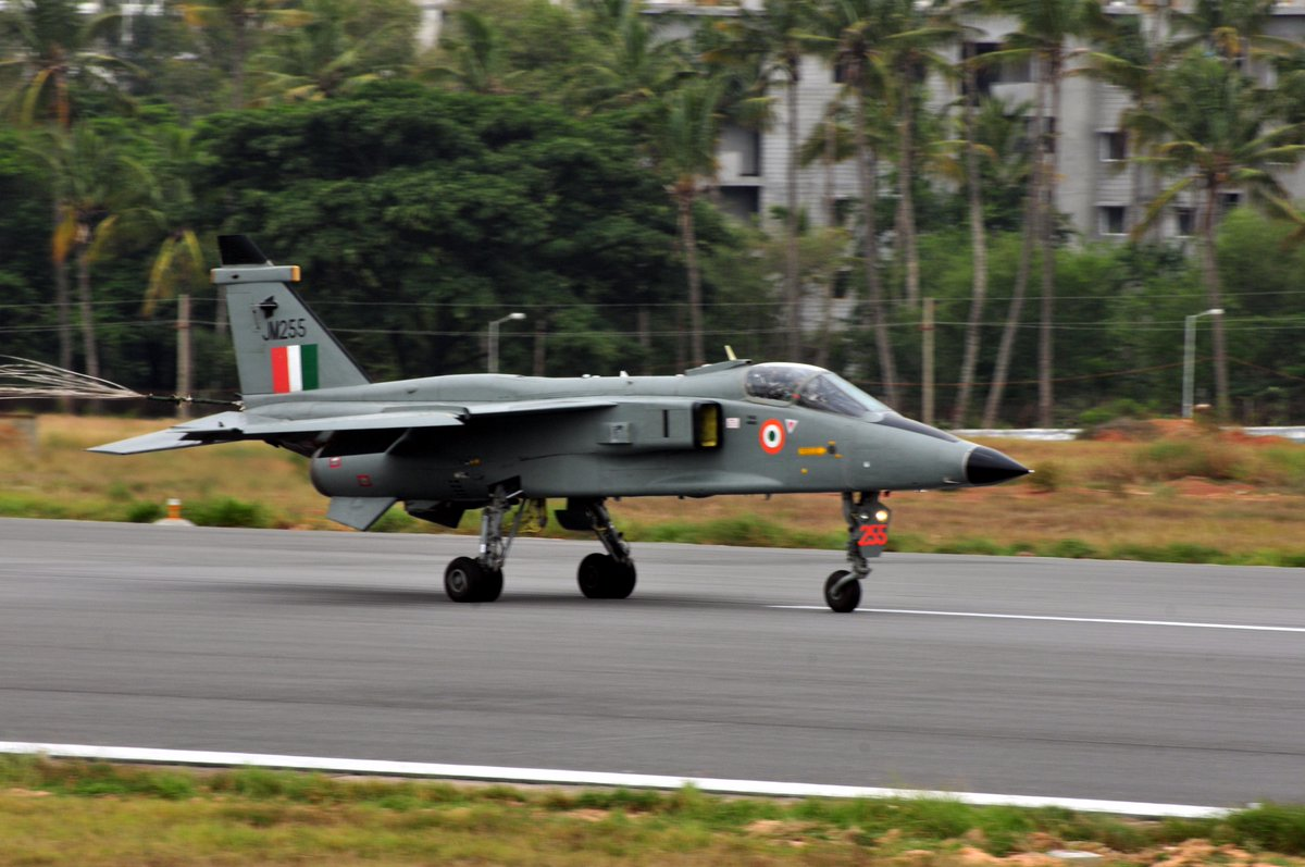 Hindustan Aeronautics Limited (HAL) successfully Test Flies an AESA Radar Equipped Jaguar EDARIN-III Upgraded Aircraft.