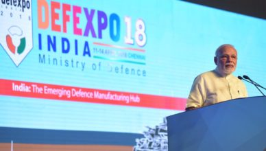 1 - PM Narendra Modi during the inaguration of DefExpo - 2018; Courtesy - PMO.