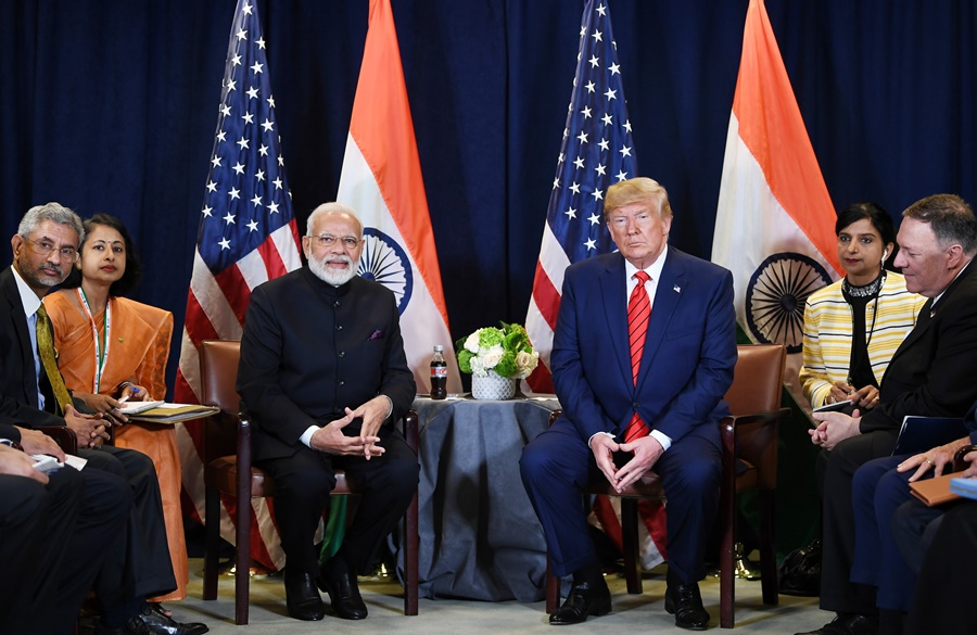 PM Modi visits the United States treds over Kashmir Issue.