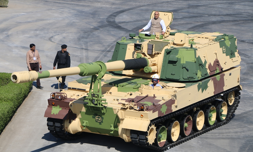 Defence Minister Rajnath Singh flags off 51st K9 VAJRA-T Gun